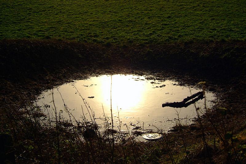 muddy puddle