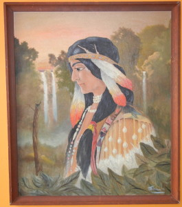 Native American Oil Painting by Meachum '72