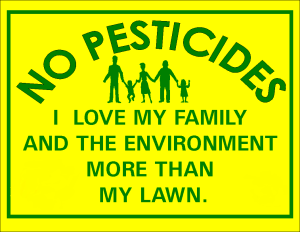 no pesticdes on lawns