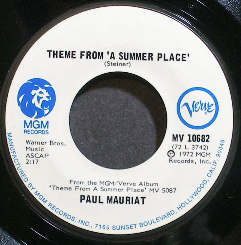 Paul Mauriat - Theme From A Summer Place / Apres Toi (come What May)