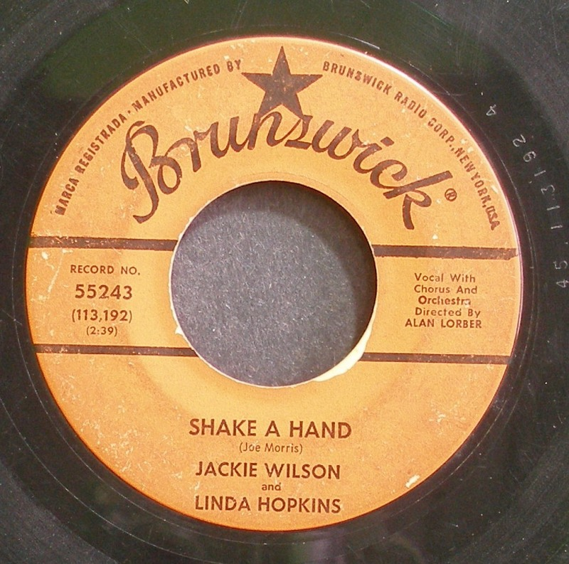 Jackie Wilson & Linda Hopkins - Shake A Hand / Say I Do