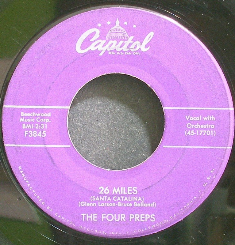 Four Preps - 26 Miles (santa Catalina / It's You)